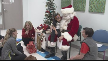 Tradition of giving | Santa visits Children's Healthcare of Atlanta rehab program