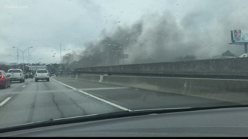 Fire breaks out under I-85 in Atlanta