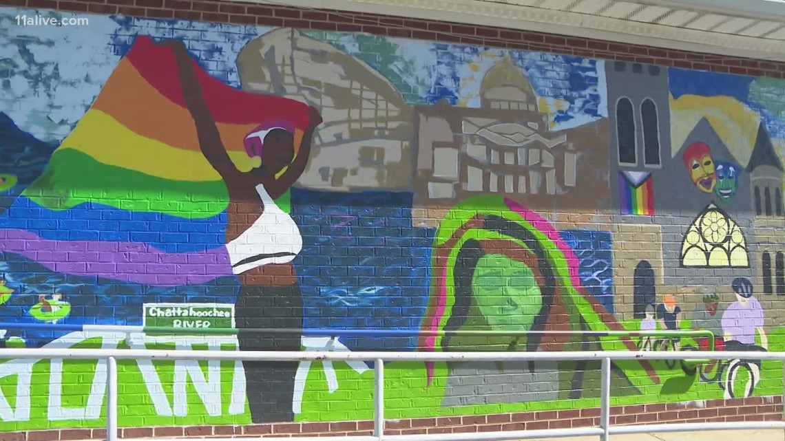 A look at the history of Pride in Atlanta mural