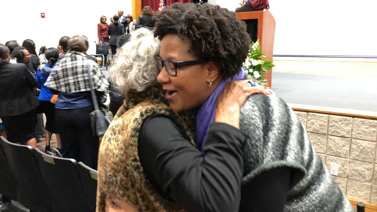 Former East Point Mayor, Patsy Jo Hilliard and newly elected College Park Mayor, Bianca Motley Broom