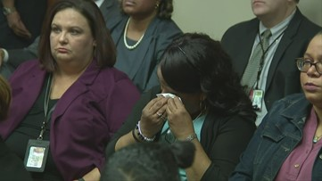 Anthony Hill's mother and Robert Olsen's wife in tears as verdict in murder trial is read