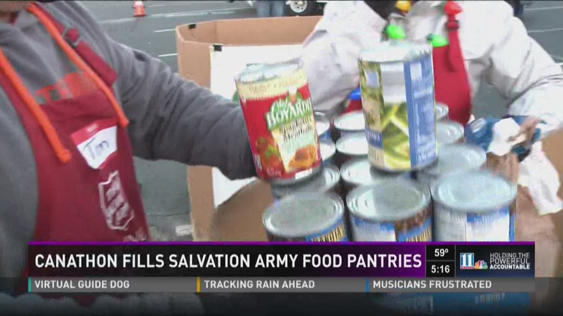 11alivecom Canathon fills Salvation Army food pantries