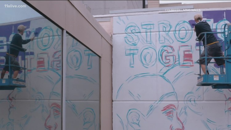 Mural dedicated to health care workers