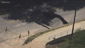 Rowland Road still closed due to sinkhole