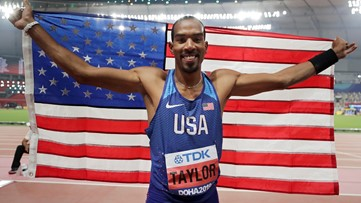 Taylor made: Triple jumper wins 3rd straight world title