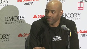 Atlanta's Vince Carter on what may have been the final game of his NBA career