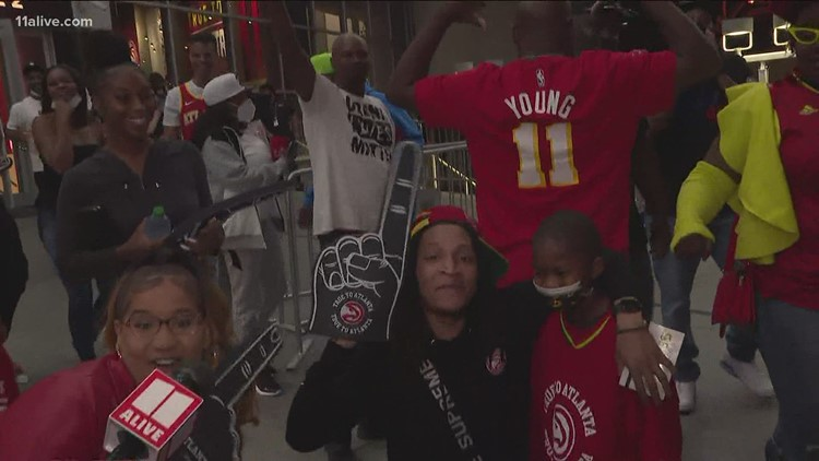Fans excited Hawks beat Knicks, move on to next round of playoffs