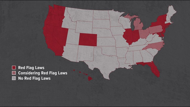 Red Flag Laws US Graphic