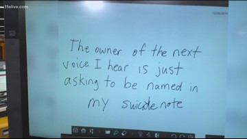 Social media responds to a DeKalb teacher's disturbing note she wrote on the board