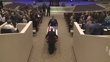 Bagpipes played as Officer Michael Smith's body escorted from sanctuary