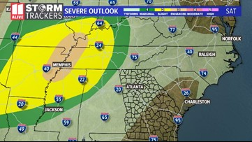 Severe threat lowered, but strong storms still possible