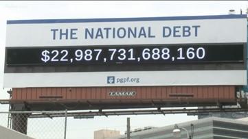 Downtown Atlanta billboard tracks national debt