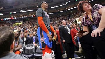 Russell Westbrook might have been out of line, but fan who heckled him is now banned for life