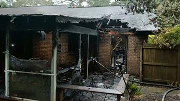 Single lightning strike sparks power surge, fires at 2 homes