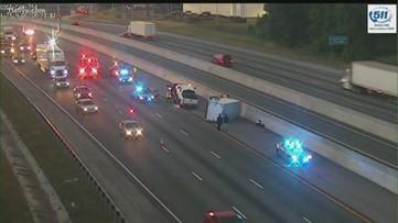 Travel lanes now open on I-75N, vehicle overturned