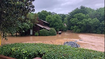 Condos flooded out in Peachtree City area due to heavy rain