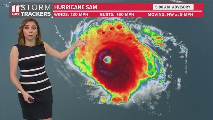 Hurricane Sam now a Category 4 storm   Forecast, track