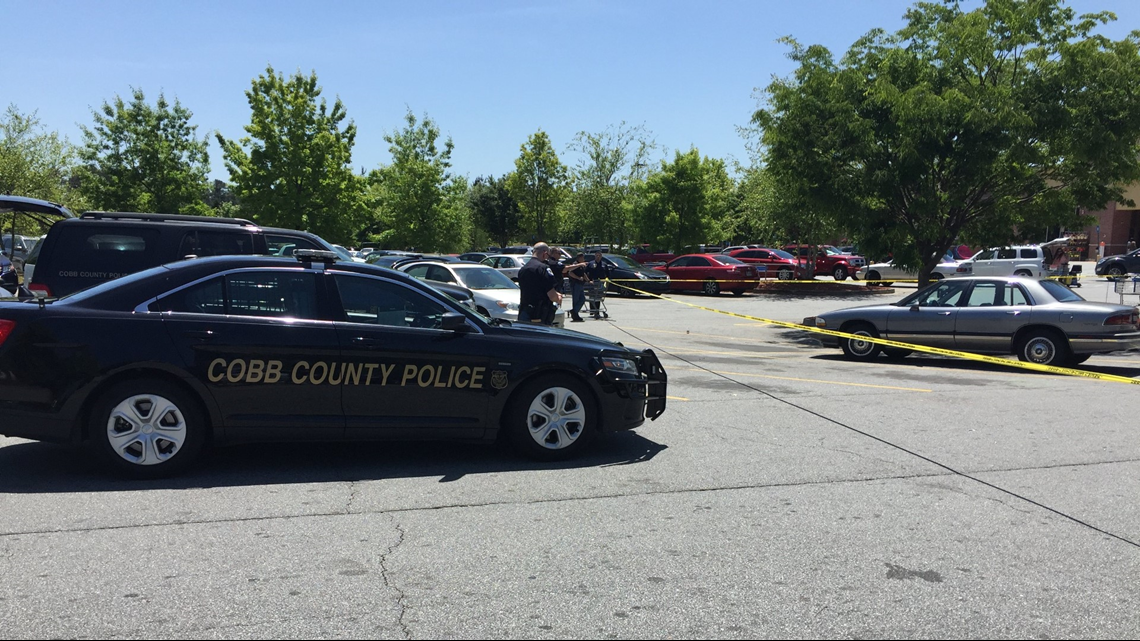 Police investigate parking lot shooting at Walmart store in West Cobb County on Monday, April 30, 2018