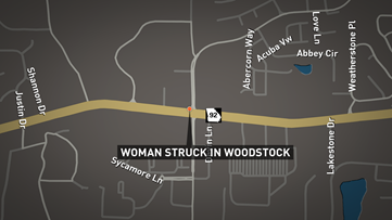 Elderly Woodstock woman struck, killed by vehicle