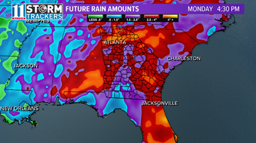 A soaker of a system will bring heavy rain to Georgia this week