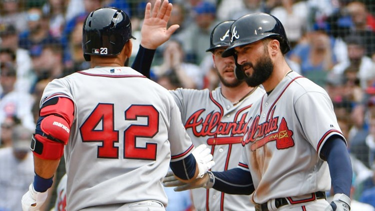 Ozzie Albies, Jose Bautista and Tyler Flowers all launched home runs for the first-place Braves, who improved to 25-15 after 40 games.
