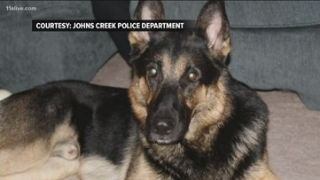 Dano, one of Johns Creek's first police K-9 officers, dies