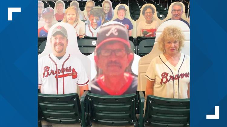 family buys cutout of deceased father to appear at atlanta braves 11alive com family buys cutout of deceased father