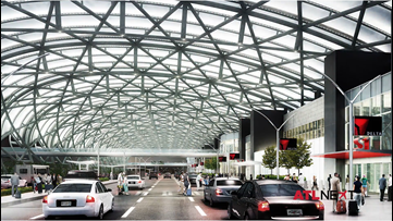 Hartsfield-Jackson completes steelwork on North Terminal canopy