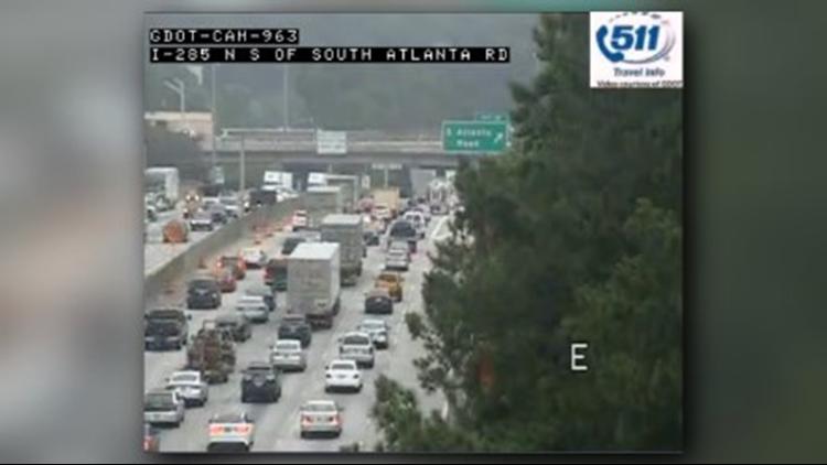 GDOT making lane changes to Atlanta Road at I-285 | 11alive com