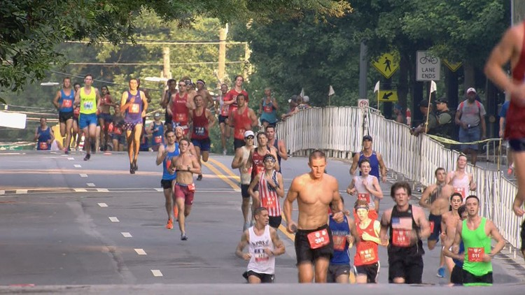 How weather impacts runners in the AJC Peachtree Road Race