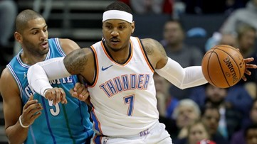Atlanta Hawks waive Carmelo Anthony, completing conditions of 3-way trade