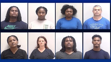 Eight people arrested for various drug charges at one apartment complex