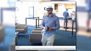 Man wearing fedora hat wanted for bank robbery in Carrollton