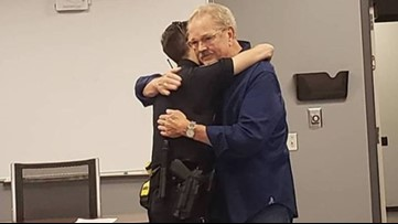 1 year later, man returns to embrace and thank Roswell officer who saved his life