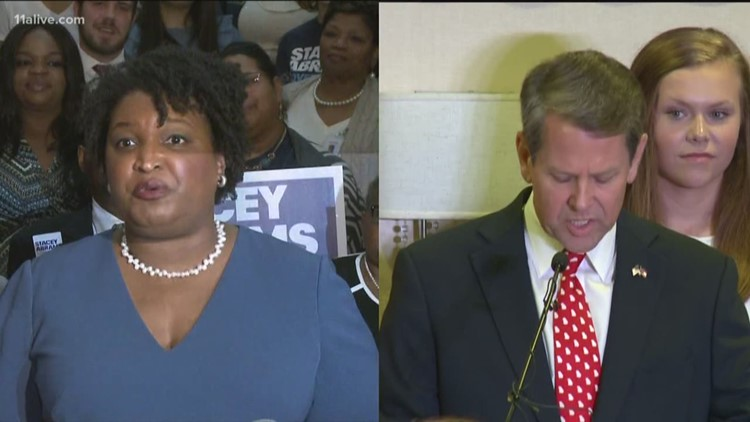 Kemp, Abrams appear together at Georgia Chamber's luncheon in Macon