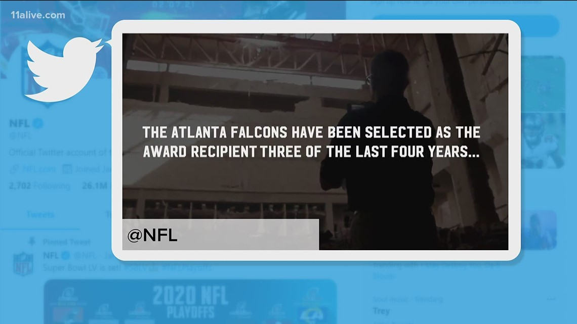 Atlanta Falcons, Steve Cannon win NFL's 'Salute to Service Award'