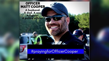Covington officer Matt Cooper's one gesture showed how far he's come since shooting