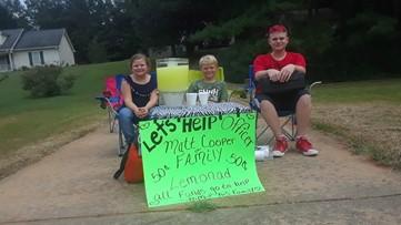 Covington kids sell lemonade in efforts to help officer shot in the head