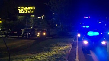 Suspect on the run after carjacking Uber, crashing at Buckhead Waffle House