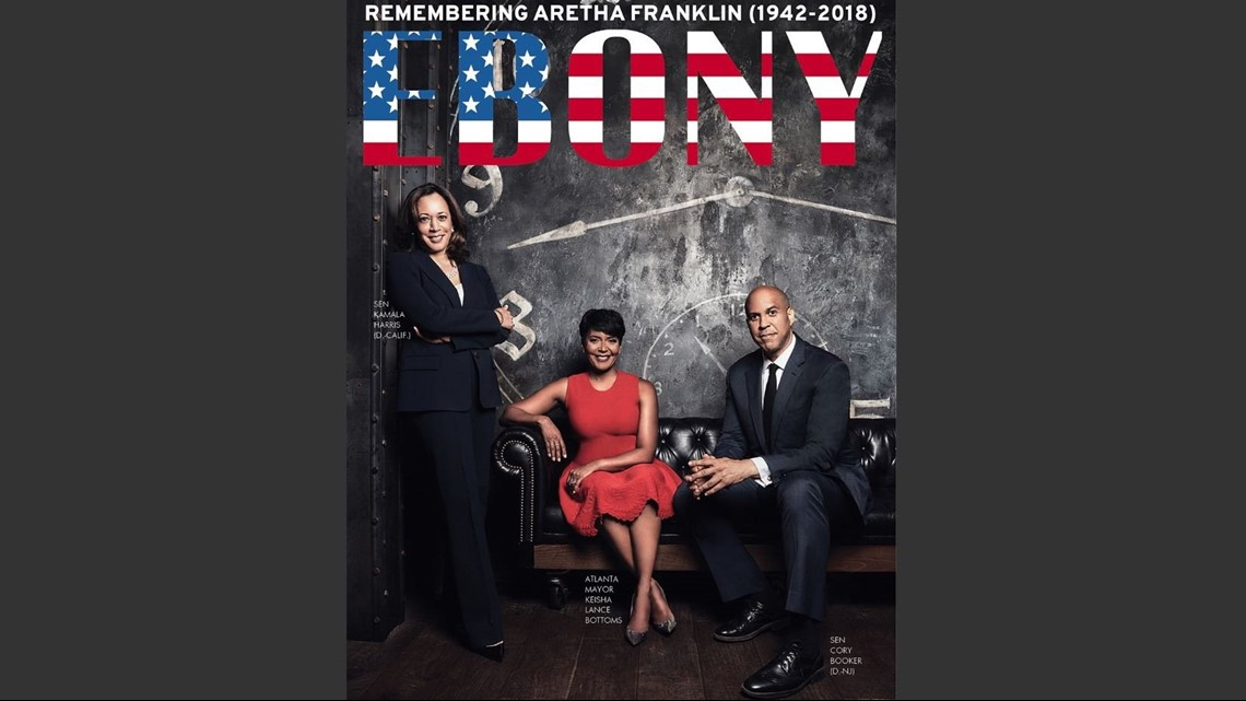 Gas Companies In Ga >> Atlanta mayor Keisha Lance Bottoms appears alongside Cory ...