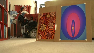 Atlanta-area musician defies ALS, uses eye movements to create inspirational works of art