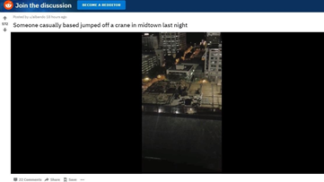 Reddit video appears to show person BASE jump from building in Midtown