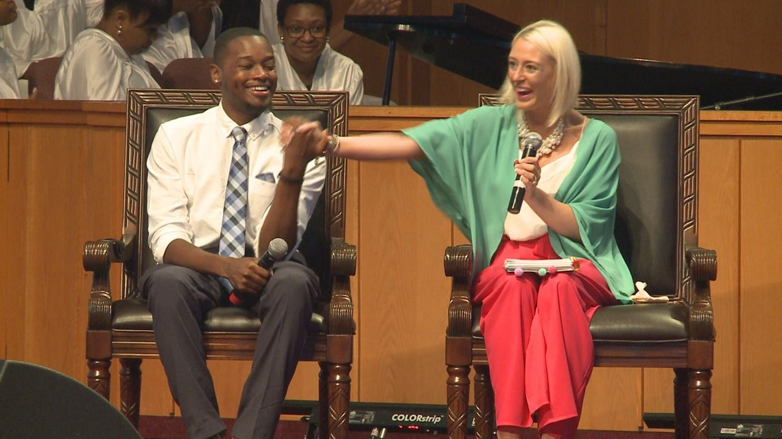 She gave him her kidney so he could live. They shared their story of faith on Easter Sunday