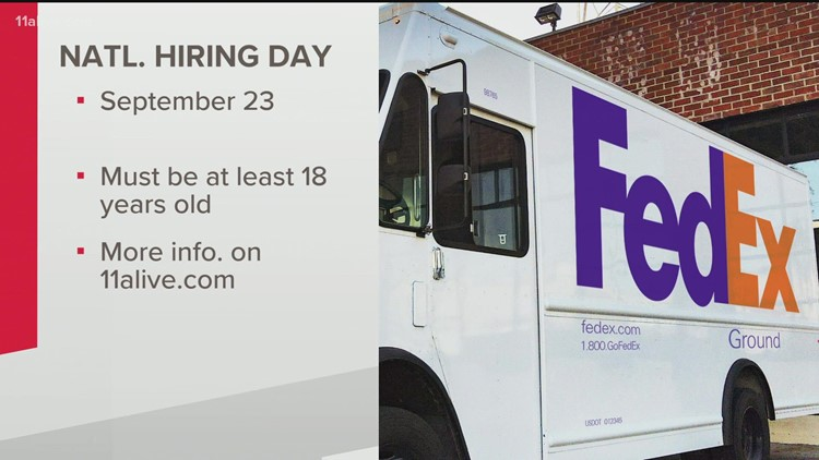 FedEx looking to fill thousands of positions in Atlanta