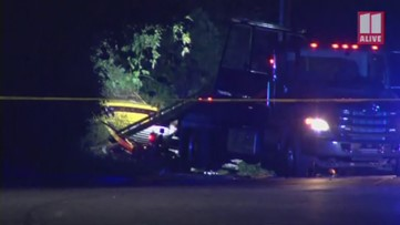 Scene of crash that left moped rider dead in Stone Mountain