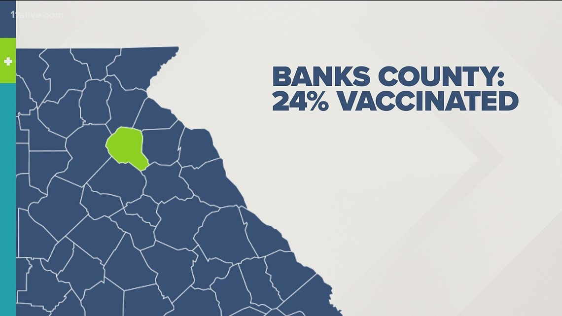 This county has the lowest vaccination rate in Georgia