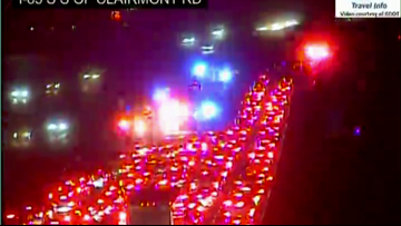 Lanes begin clearing after multi-vehicle crash involving bus, truck on I-85