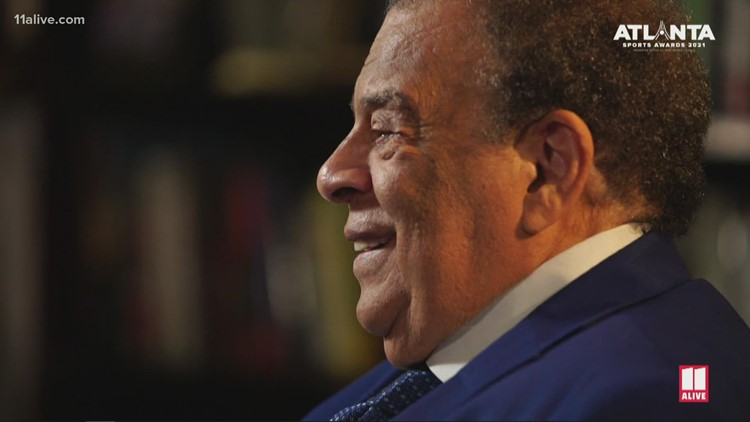 Ambassador Andrew Young speaks about sports, equality during 2021 Atlanta Sports Awards
