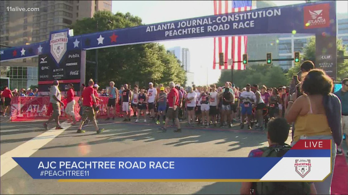 Last wave of runners hit the pavement at the Peachtree Road Race