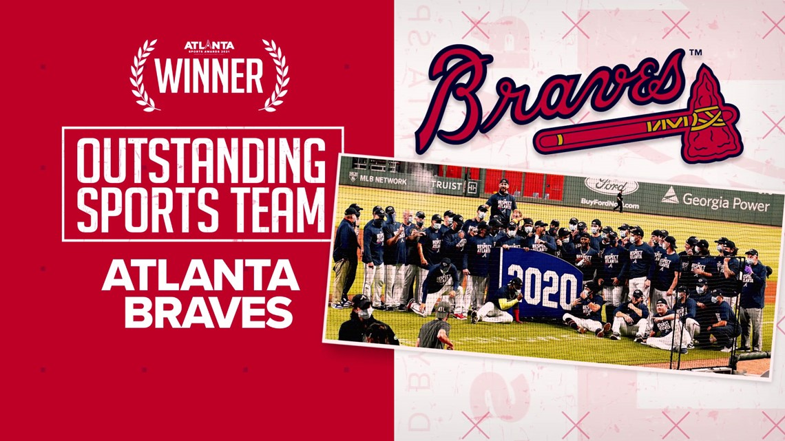 Atlanta Braves named Outstanding Sports Team during 2021 Atlanta Sports Awards